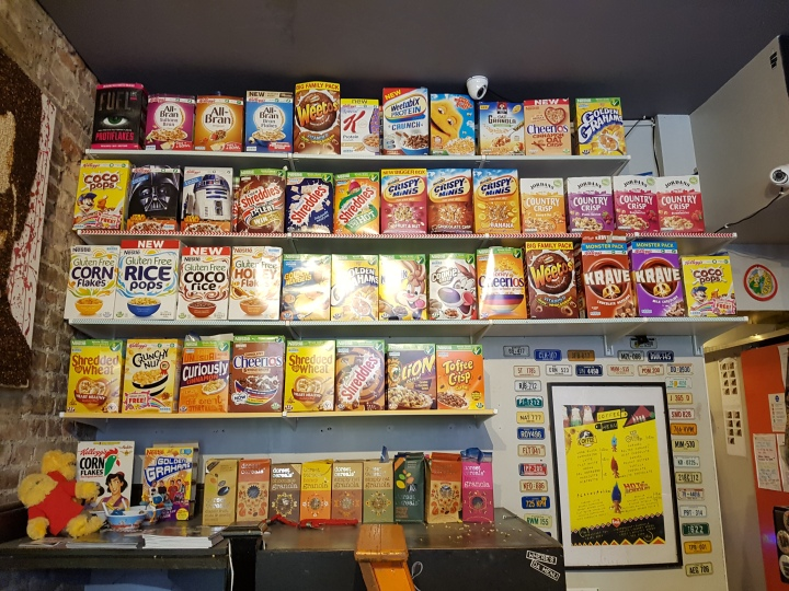Cereal for lunch at Cereal KillerCafe