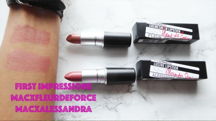 Beauty Review: First Impressions video of MacxFleurDeForce and MacxAlessandra MAC Lipsticks